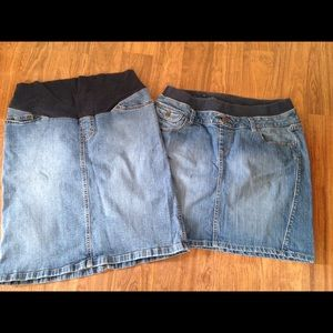 Maternity Jean skirts